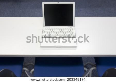 Laptop On The Desk - stock photo