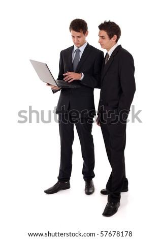 laptop presentation - stock photo