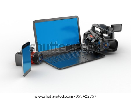 Laptop with camera
