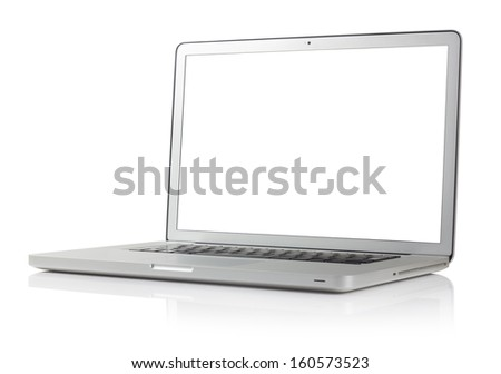 laptop with four clipping paths