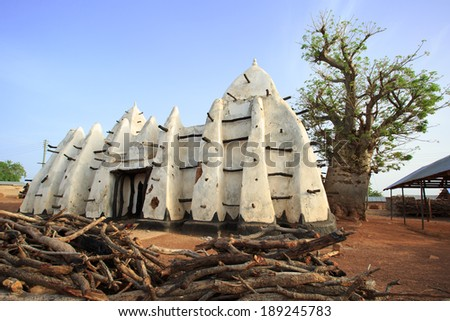 Larabanga mosque, one of oldest muslim place in Ghana