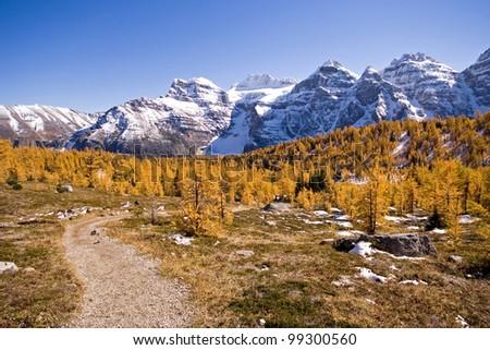 Larch Valley, Near Lake Louise, Banff National Park, Alberta, Canada - stock photo