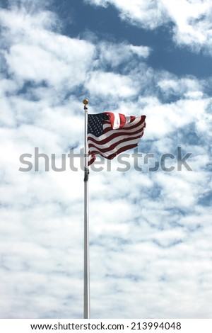 Large American flag - stock photo