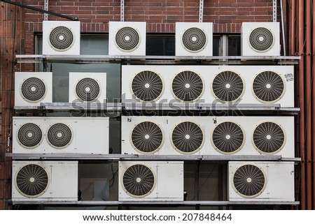 Large Amount of Air Conditioning Units