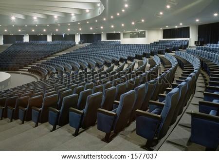 Large and empty auditorium - stock photo