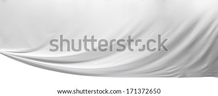 Large areas of silk  - stock photo