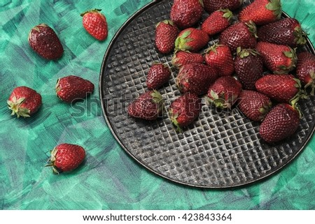 Large berry and a beautiful background - stock photo