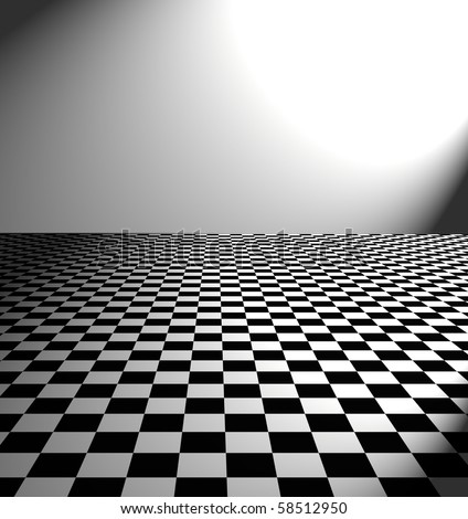 large black and white checker floor