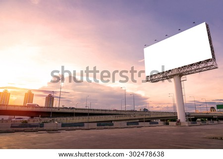 large Blank billboard ready for new advertisement. - stock photo