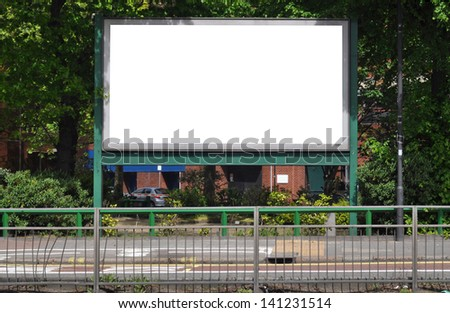 Large blank signboard for your advertisement or design. - stock photo