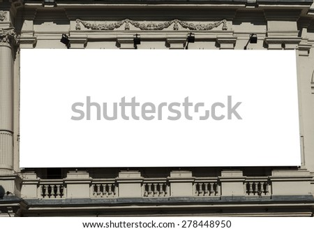 Large blank urban billboard with copy space - stock photo