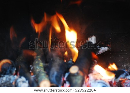 Large bonfire at night time