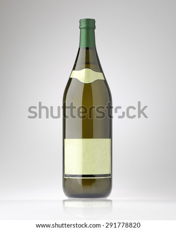 large bottle of sparkling white wine