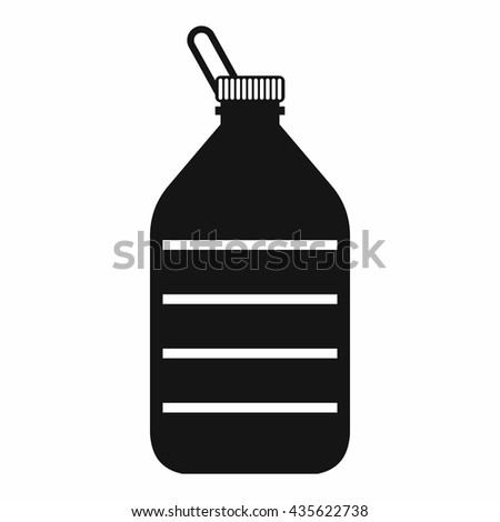 Large bottle of water icon, simple style - stock photo