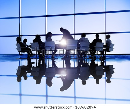 Large business meeting - stock photo