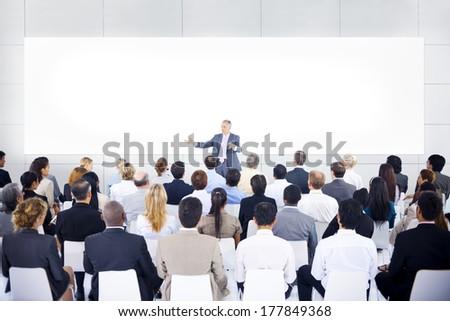 Large Business Presentation - stock photo