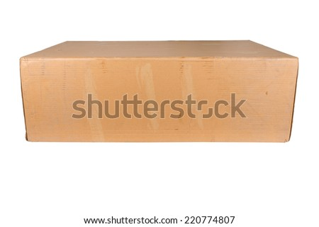 Large cardboard box on a white background