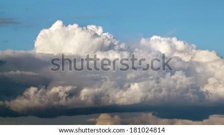 large cloud - stock photo