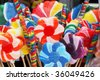 large colorful suckers - stock photo