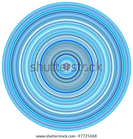 large 3d render concentric pipes in multiple blue purple colors - stock photo
