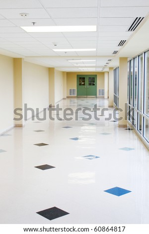Large empty hallway - stock photo