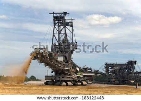 Large equipment in a mining