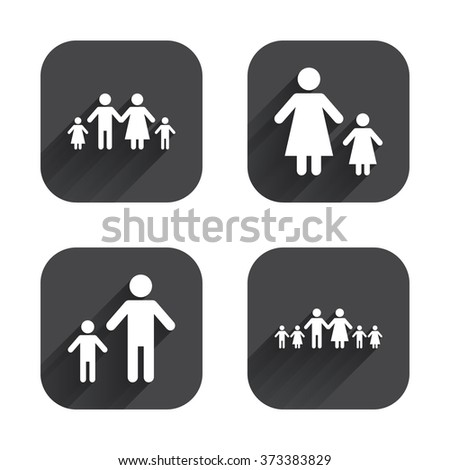 Large Family Children Icon Parents Kids Stock Illustration 373383829