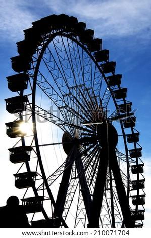 Large Ferris Wheel on a fair - stock photo