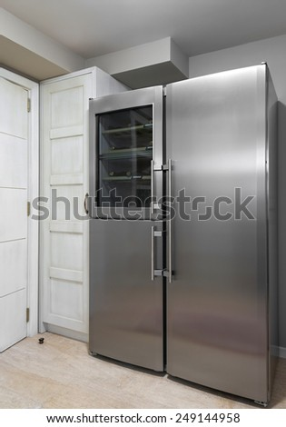 large fridge in the kitchen interior