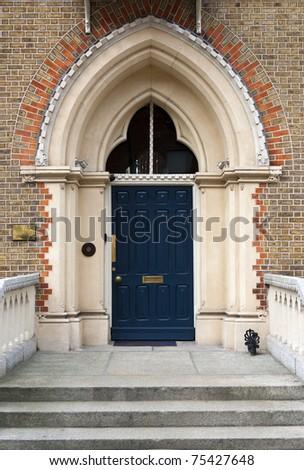 Large front Door - stock photo