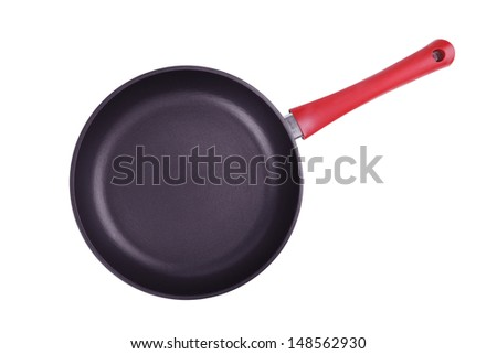 Large frying pan with a red pen