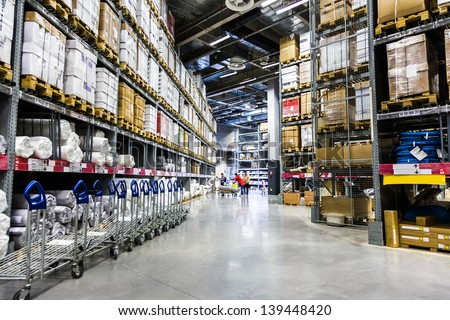 Large furniture warehouse. Furniture Warehouse Stock Photos  Royalty Free Images   Vectors