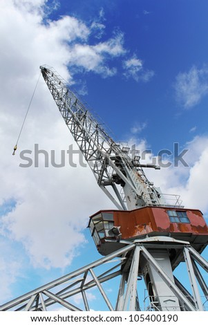 Large gantry crane - stock photo