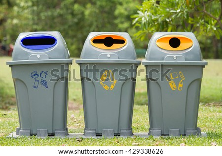 Exle Of Trash Recycle And Post Collection