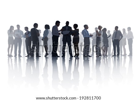 Large Group of Business Meeting - stock photo