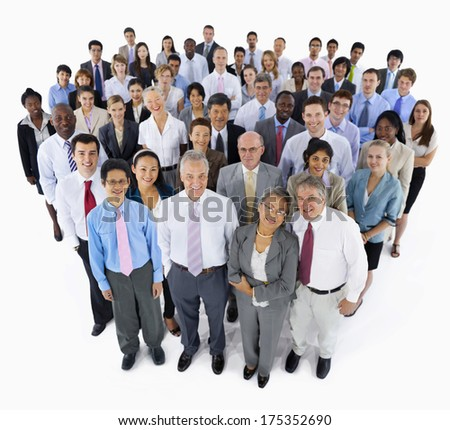 Large Group of Business People - stock photo