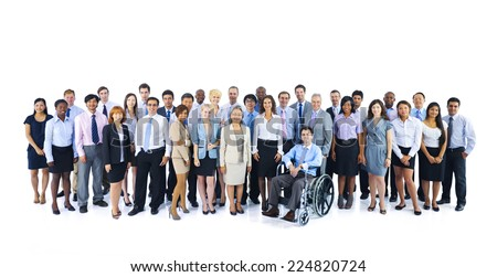Large Group of Business People