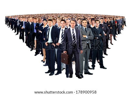 Large group of businesspeople