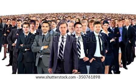 Large group of businesspeople - stock photo