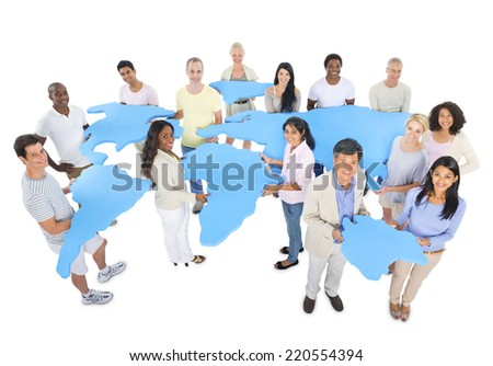 Large Group of Conservative People - stock photo