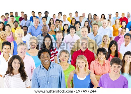 Large group of ethnicity  - stock photo