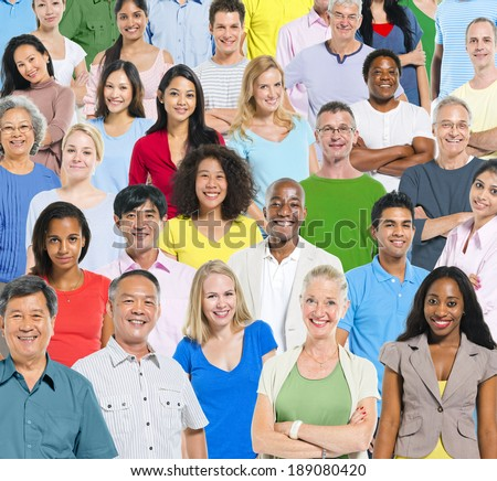 Large group of people. - stock photo