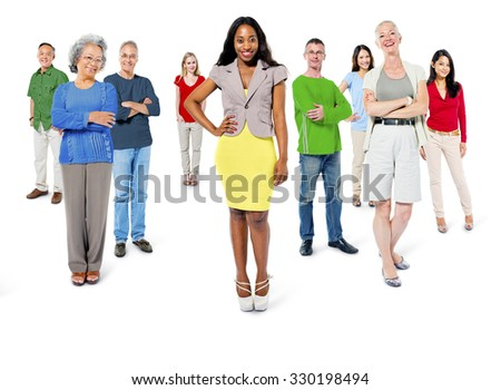 Large Group of People Community Social Gathering Concept
