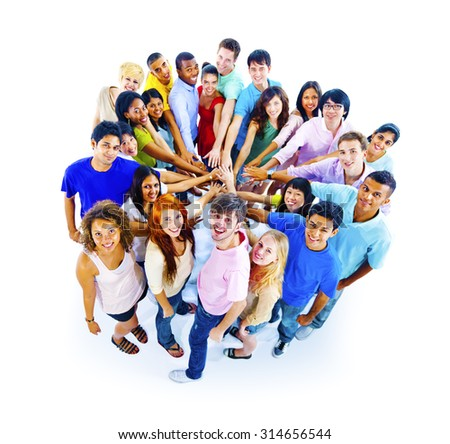 Large Group of People Community Teamwork Concept - stock photo