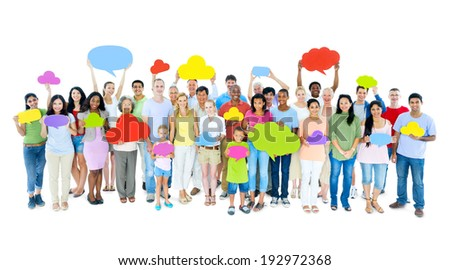 Large Group of People Sharing Ideas - stock photo