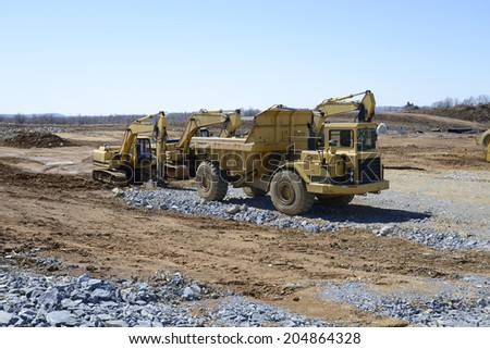 large heavy duty construction equipment - stock photo