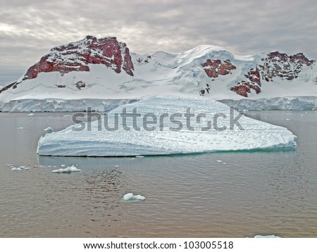 Large ice floe in the Bismarck Strait of the Antarctic Peninsula