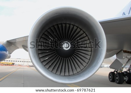 large jet engine turbine