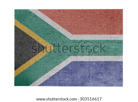 Large jigsaw puzzle of 1000 pieces - flag - South Africa