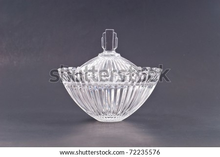 Large Leaded Crystal Bowl with - stock photo